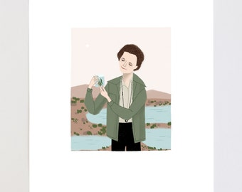 Rachel Carson Portrait Illustration Art Print
