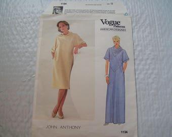 Vintage Vogue American Designer 1134 John Anthony Miss Dress