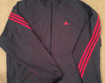 Adidas full zip windbreaker