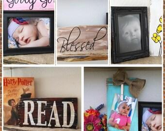 Rustic grab Bag of home decor, 3 item grab bag, home decor grab bag, photo prop grab bag, decorating grab bag, christian art grab bag,