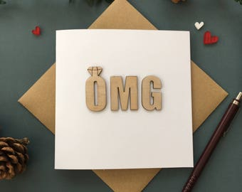OMG Engagement/Wedding Card, Engagement card, Congratulations