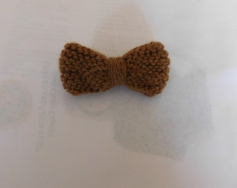 Bow Tie< Clip On, Brown, Small