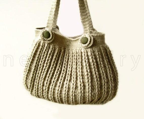 Crochet Handbag Tutorial Handbag Crochet Pattern Flowers Buttons
