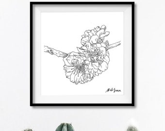 Fowers print poster decoration graphic wall art