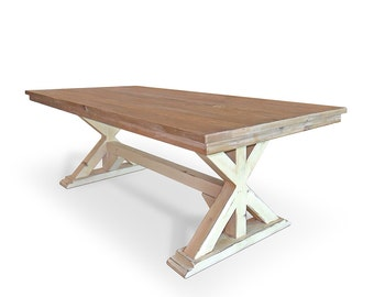 Dining Table, Table, Reclaimed Wood, Trestle Table, Kitchen Table, Handmade, Rustic