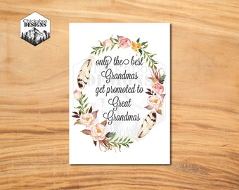 Great Grandma Mother's Day Card