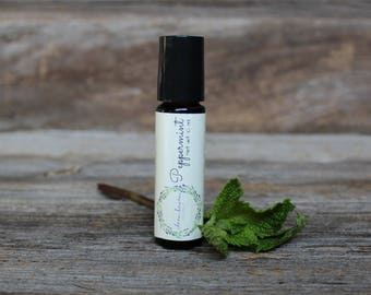 Peppermint Essential Oil Roll On - Naturally Cooling - Aromatherapy Essential Oil Roller - Essential Oils - Peppermint