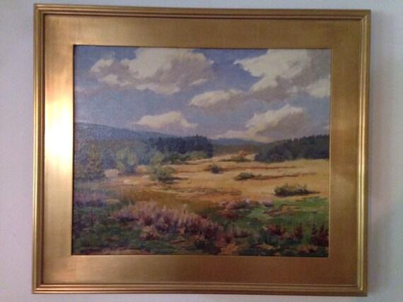 1961 Belgian Jean Parmentier 1883-1973 Oil on Canvas La Fagne Blonde Impressionist