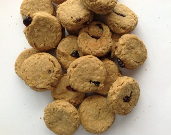 Canine Cranberry Gluten Free Peanut Butter Cranberry Treats for Dogs