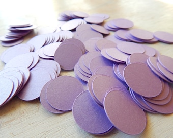 Circle Confetti Lavender Shimmer 3/4 Inch - Card stock Table Scatter - Wedding Decor - Photo Prop - Rice Toss Alternative
