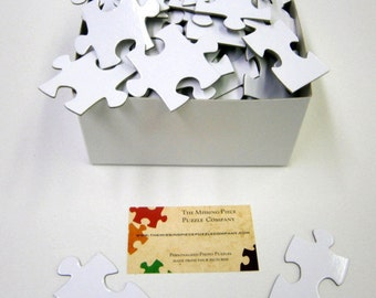 Blank White Puzzle Pieces for Wedding and Event Guest Book