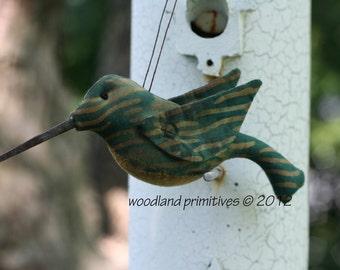 Handmade Hummingbird Ornament