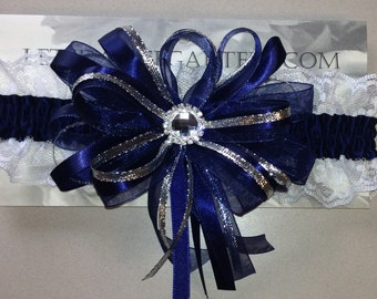 Navy Blue Prom Homecoming Garter