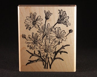 Daisy Rubber Art Stamp