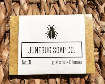 3 PACK: Goat's Milk & Lemon Bar Soap - Natural Soap, Goat's Milk Soap, Handmade Soap, Lemon Soap, Bar Soap, Goat Milk Soap, Homemade Soap