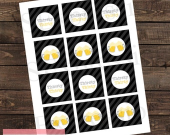 Thirsty Thirty Birthday Beer Cupcake Toppers
