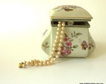 Jewellry Box, Jewellery Boxes, Porcelain Trinket Box, Small Box, Jewelry Box, Jewellery Box, Porcelain Box, Antique Jewelry Box,