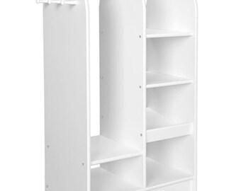 Kidu0027s Wardrobe, Dress Up Storage Rack For Clothes Or Costume Organization,  Unfinished Wood Furniture