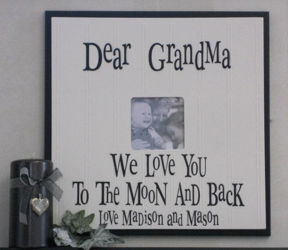 Grandma to be, I LOVE GRANDMA (nana) or Grandpa (papa) | Gift Frame ...