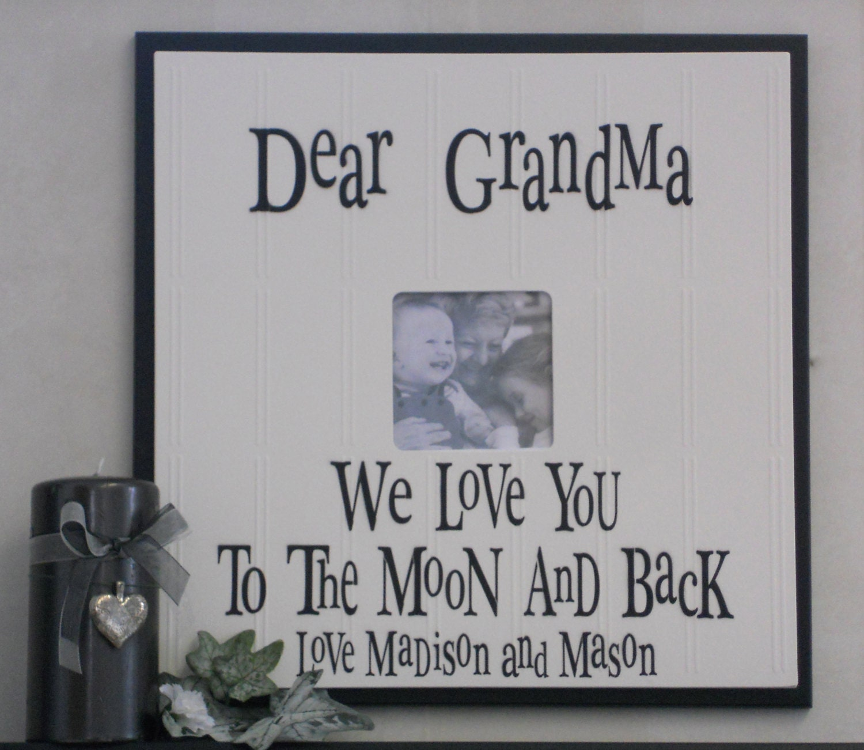 Grandma to be I LOVE GRANDMA nana or Grandpa papa Gift