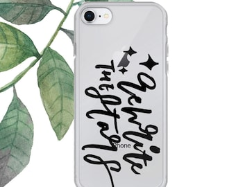 Rewrite the stars iPhone Case, iPhone 6/6S/7/8/Plus/X, Greatest Showman, rewrite the stars quote, iphone case, brush lettering, lettering