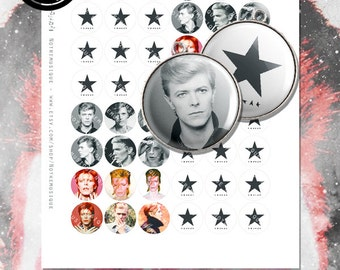 DAVID BOWIE Blackstar Digital collage sheet 1inch Us Letter + 4x6 sheet,Printables,Pendants,Magnets,Jewelry Supplies,Pins,Instant Download