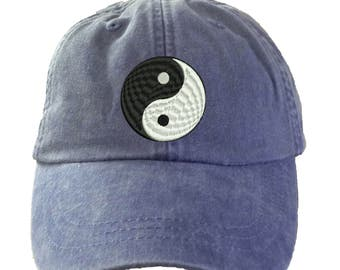 YIN YANG Hat.  Baseball Hat. Cool Mesh Lining & Adjustable Strap. 33 Colors Avail. HER-LP101