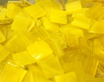 YELLOW PINEAPPLE - Stained Glass Mosaic Tile A16