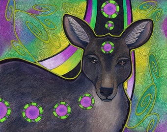 Black Wallaroo as Totem - Original Art