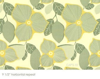 1/2 yard - Optic Blossom in linen, Midwest Modern collection by Amy Butler