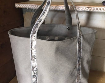 Large light grey canvas tote