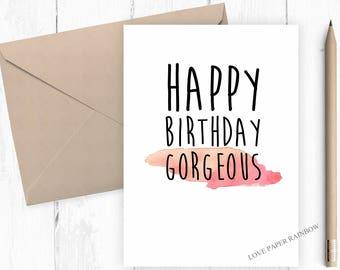 girlfriend birthday card, boyfriend birthday card, gorgeous girlfriend, gorgeous boyfriend, happy birthday girlfriend,