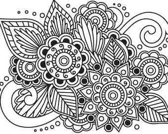 Henna Embossing Folder