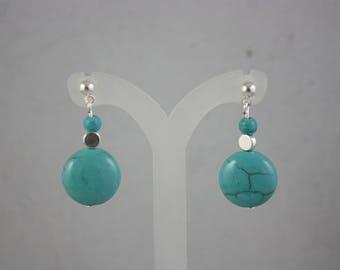 earrings, turquoise earrings, turquoise, dangle earrings, drop earrings, silver earrings