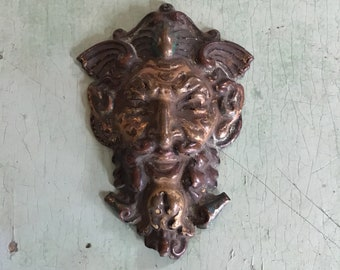 Brass Bacchus Badge