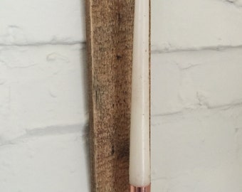 Hand made, timber copper candle wall sconce