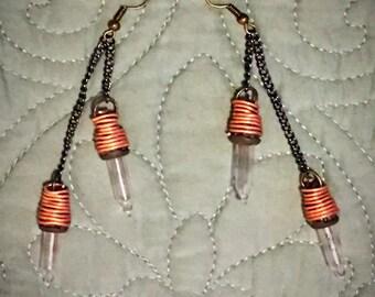 Steampunk Light Bulb Dangle Earrings