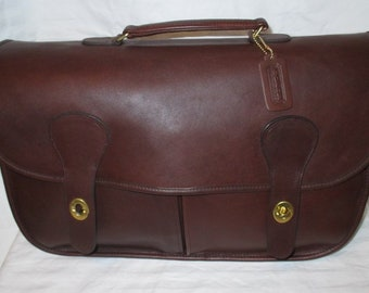 """COACH Vintage Mahogany Leather Musette """"Carrier"""" Bag - Never Used - Near Mint Condition"""