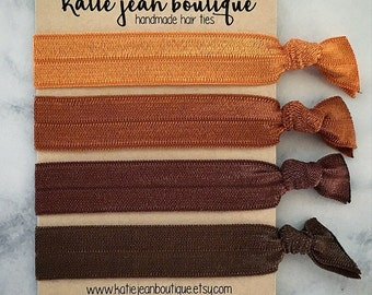 """Elastic Hair Ties - The """"Amber"""" Collection"""