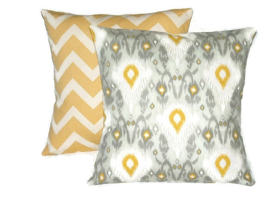 Pillow Cover Soft Grays With Bright Gold Decorative Pillow Delectable Grey And Gold Decorative Pillows