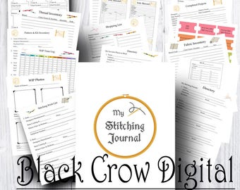 Cross Stitch Journal; 17 Pages!  Journal for Recording Your Cross Stitching, Embroidery or Needlework Projects; Printable Instant Download