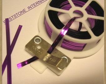 65FT Metallic Twist Tie Spool with Cutter - Purple