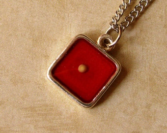 Bright Red Metallic Mustard Seed Necklace - Mustard Seed Jewelry - Mustard Seed Faith - Mustard Seed Necklace - Red Necklace- Christian Gift