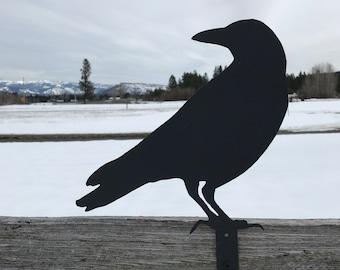Black Bird, Bird Sign, Raven, Farmhouse Decor, Rustic Signs, Rustic Metal Signs, Rustic Decor, Farmhouse Signs, Garden Signs, Metal Signs
