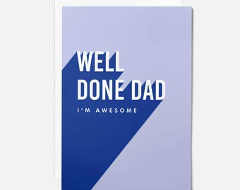 Birthday Cards For Daddy From Daughter ~ Dad birthday card etsy