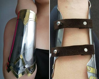 Wonder woman Dawn of Justice inspired stainless steel and brass bracers / cuff set