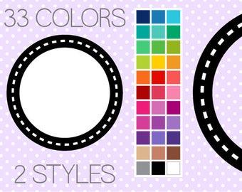 Dash Circle Frames - Clip Art Frames - Instant Download - Commercial Use