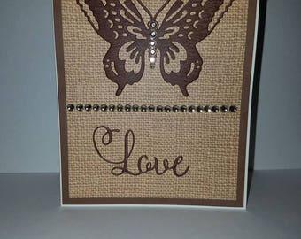 Handmade Card Butterfly Love Valentine