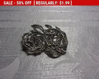 rhinestone flower brooch, wear, craft, repurpose