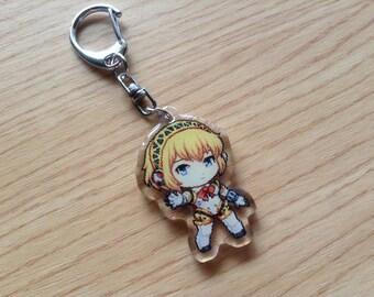 Persona 3 Aigis keychain, Aigis, Persona 3 phone charm, Persona 3 phone strap, anime phone strap, anime keychain, anime charm